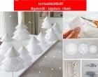 Így készíts hófehér karácsonyi asztaldíszt tortaalátétből! lépésről - lépésre +fotó