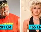 25 híresség, akik valójában magasabbak vagy alacsonyabbak, mint amilyennek a képernyőn tűnnek