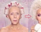 A 72 éves hölgy korának megfelelően néz ki... De várjunk csak, míg kifesti őt egy világhírű sminkmester: az eredmény lenyűgözi még a jóképű harmincas férfiakat is!